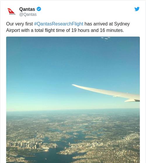 Tweet by @Qantas