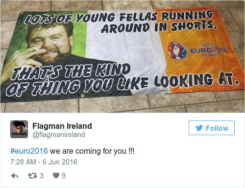 Tweet by @Flagman Ireland