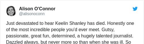 Tweet by @Alison O'Connor