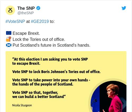 Tweet by @The SNP