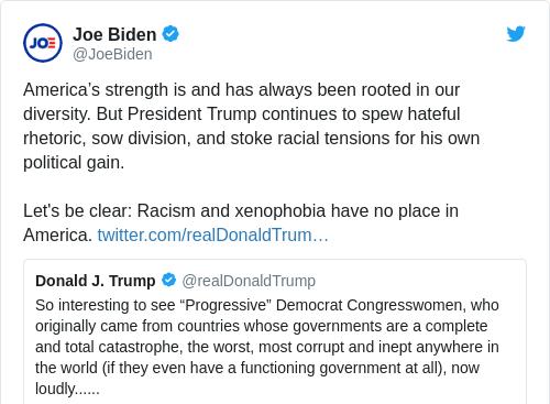Tweet by @Joe Biden