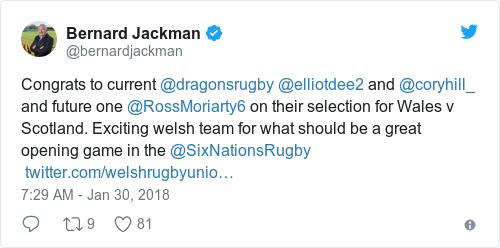 Tweet by @Bernard Jackman