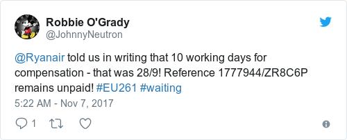 Tweet by @Robbie O'Grady