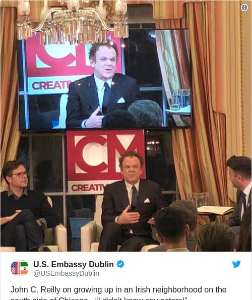 Tweet by @U.S. Embassy Dublin
