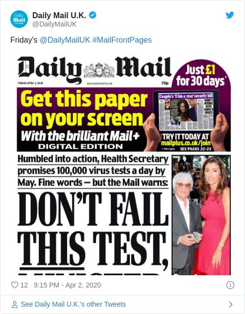 Tweet by @Daily Mail U.K.