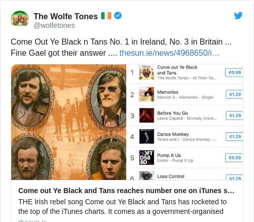 Tweet by @The Wolfe Tones 🇮🇪