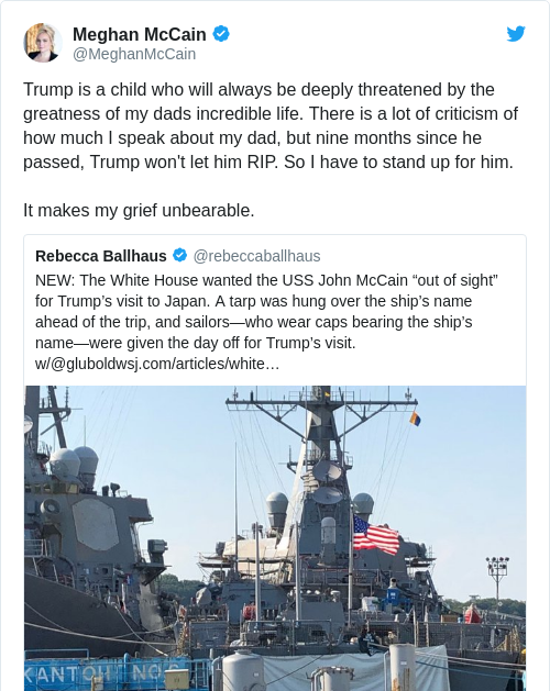 Tweet by @Meghan McCain