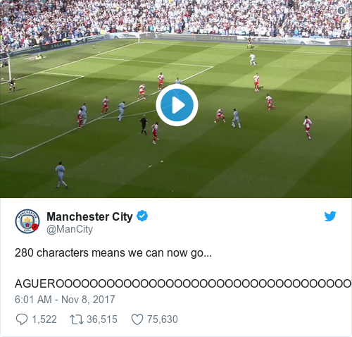 Tweet by @Manchester City