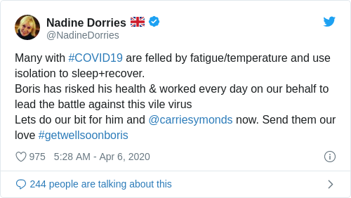 Tweet by @Nadine Dorries 🇬🇧
