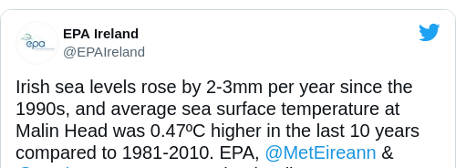 Tweet by @EPA Ireland