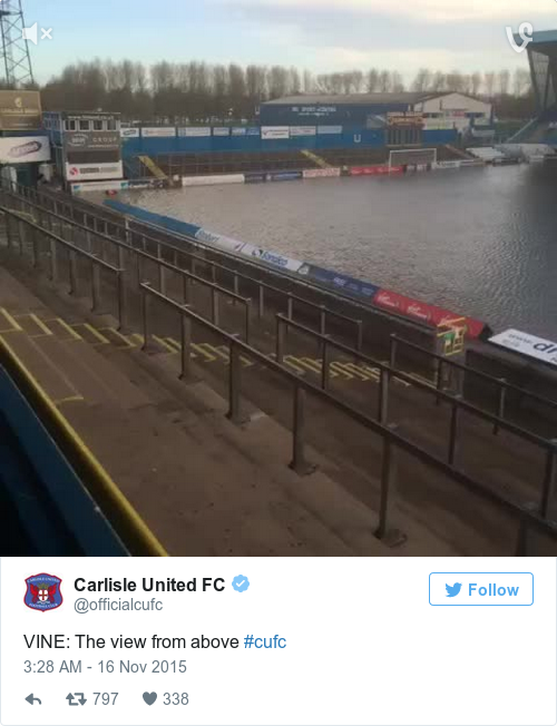 Tweet by @Carlisle United FC