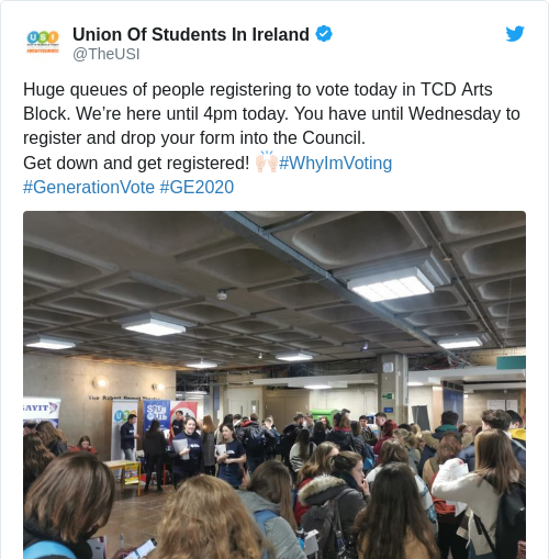 Tweet by @Union Of Students In Ireland