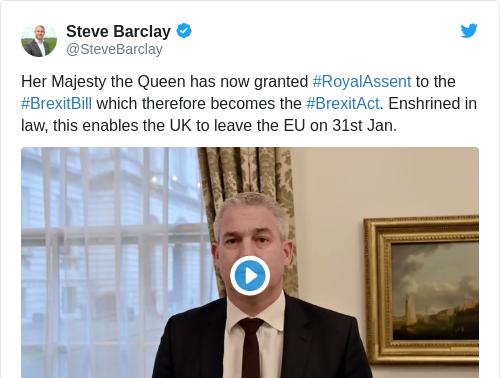 Tweet by @Steve Barclay