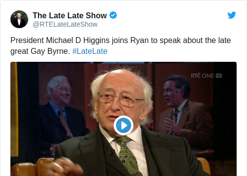Tweet by @The Late Late Show