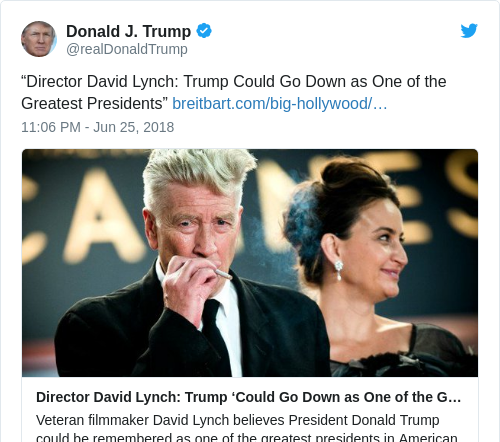 987d904bf3baf9da02b1e04a70a10659 - 'I wish you and I could sit down and talk': What's going on with David Lynch and Donald Trump?