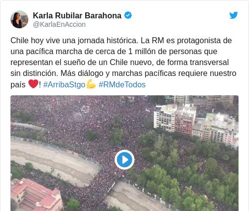 Tweet by @Karla Rubilar Barahona