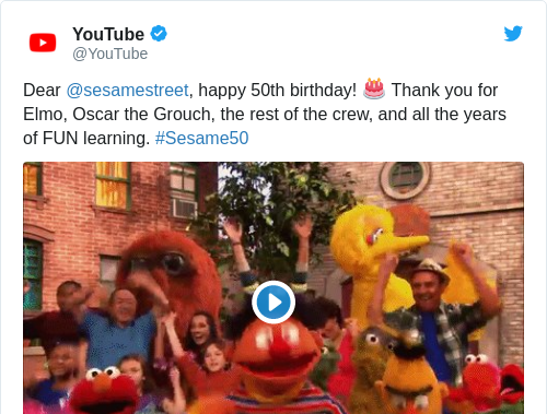 Tweet by @YouTube