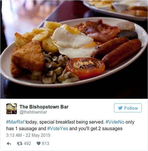 Tweet by @The Bishopstown Bar