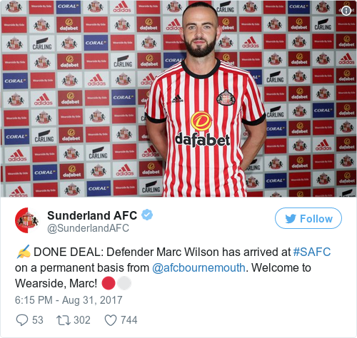 Tweet by @Sunderland AFC