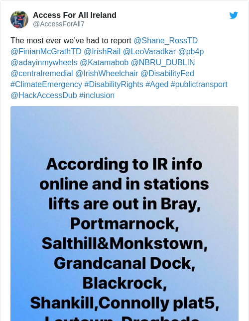 Tweet by @Access For All Ireland