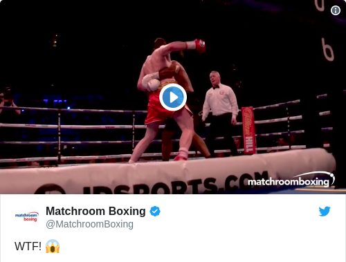 Tweet by @Matchroom Boxing