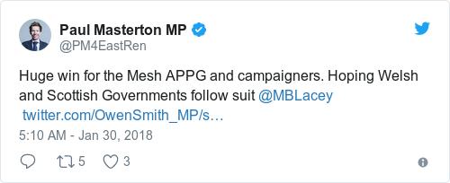 Tweet by @Paul Masterton MP