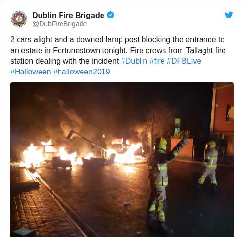 Tweet by @Dublin Fire Brigade