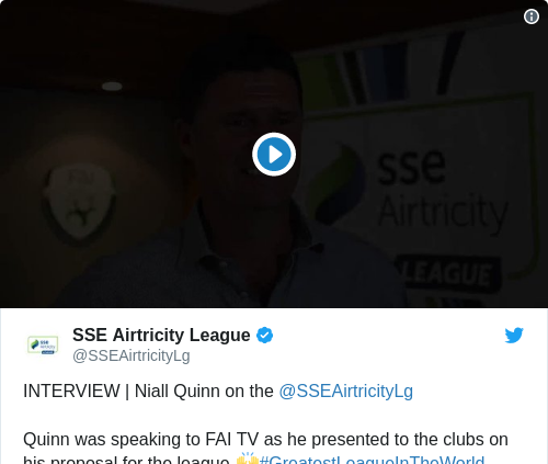 Tweet by @SSE Airtricity League