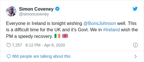 Tweet by @Simon Coveney