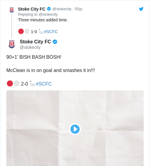 Tweet by @Stoke City FC