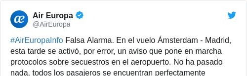 Tweet by @Air Europa