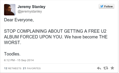 Tweet by @Jeremy Stanley