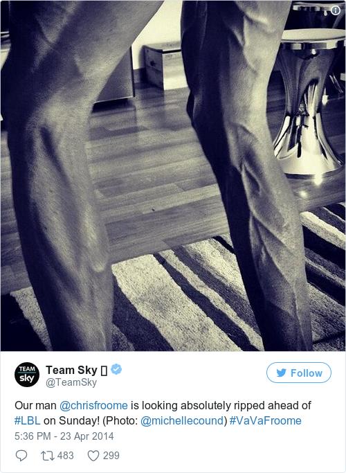 Tweet by @Team Sky 🚲