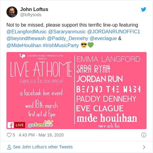 Tweet by @John Loftus