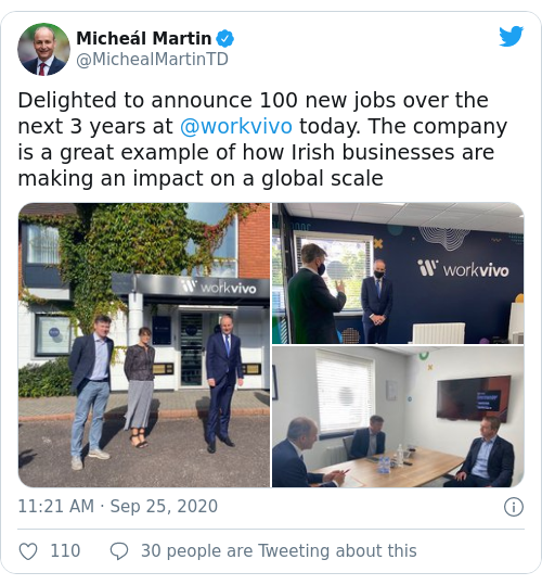 Tweet by @Micheál Martin