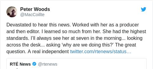 Tweet by @Peter Woods