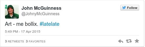 Tweet by @John McGuinness