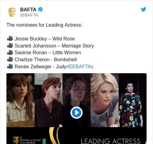 Tweet by @BAFTA