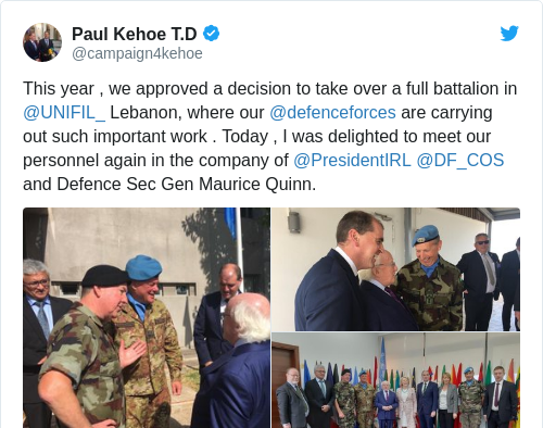 Tweet by @Paul Kehoe T.D