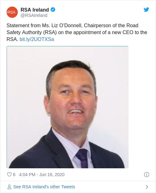 Tweet by @RSA Ireland