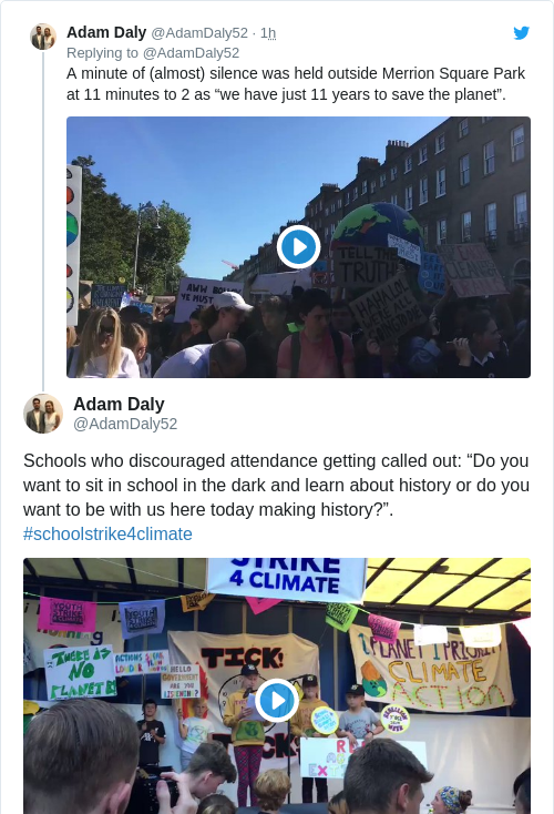 Tweet by @Adam Daly