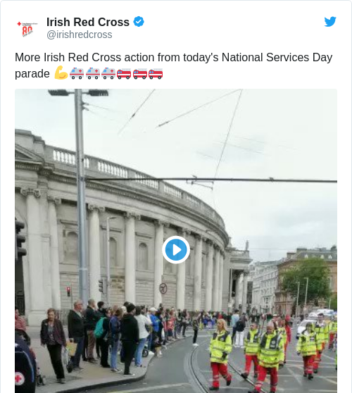 Tweet by @Irish Red Cross