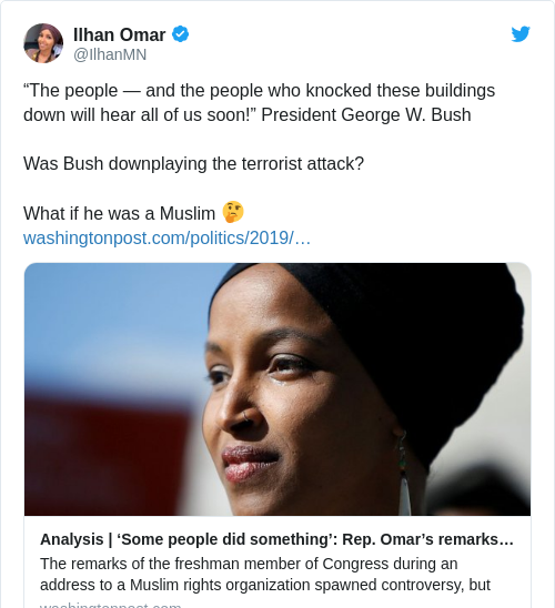 Tweet by @Ilhan Omar