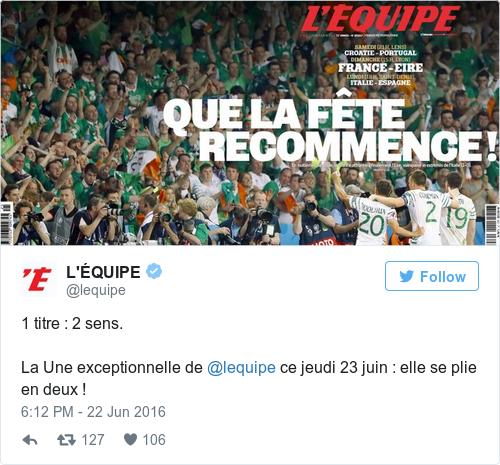 Tweet by @L'ÉQUIPE