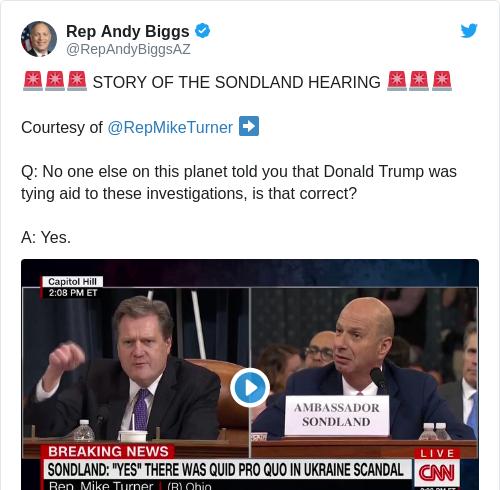 Tweet by @Rep Andy Biggs