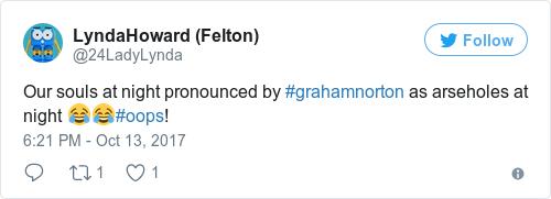 Tweet by @LyndaHoward (Felton)