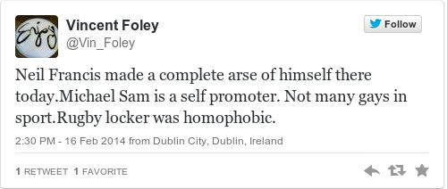 Tweet by @Vincent Foley