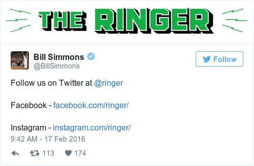 Tweet by @Bill Simmons