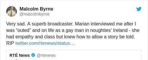 Tweet by @Malcolm Byrne