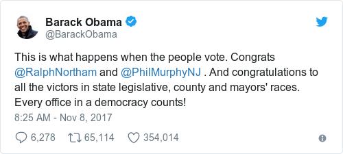 Tweet by @Barack Obama